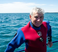Bob Belcher, President, Blue North Scuba Club