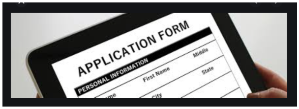 Click this image of an application form to go to the Blue North application form