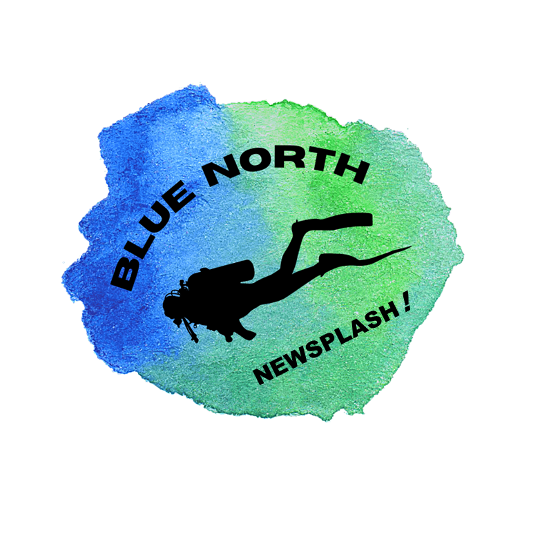 Blue North Scuba Club Newsplash logo