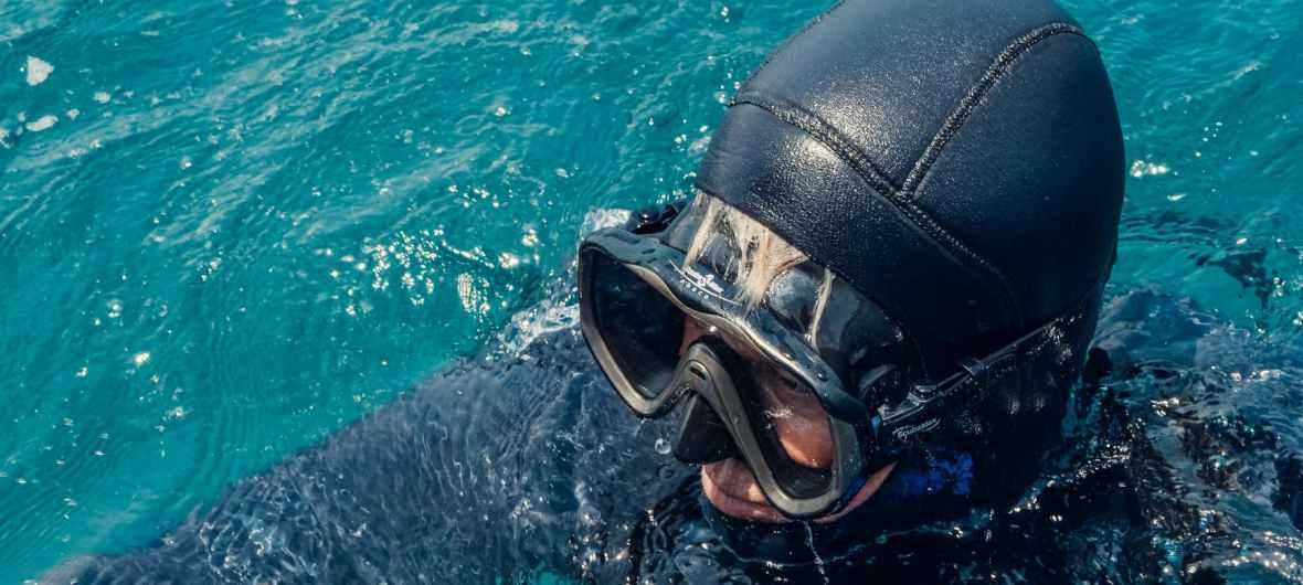 Scuba diver at surface