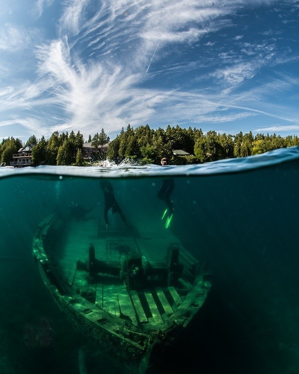 Tobermory wreck, The Sweepstakes. compliments of Tobermory Chamber of Commerce