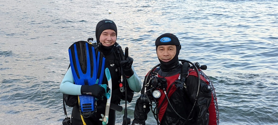 Scuba certification dive with Blue North Scuba